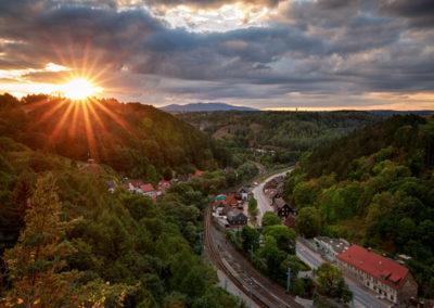 Rübeland in der Abendsonne